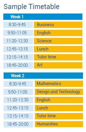 GCSE Academic Summer programme