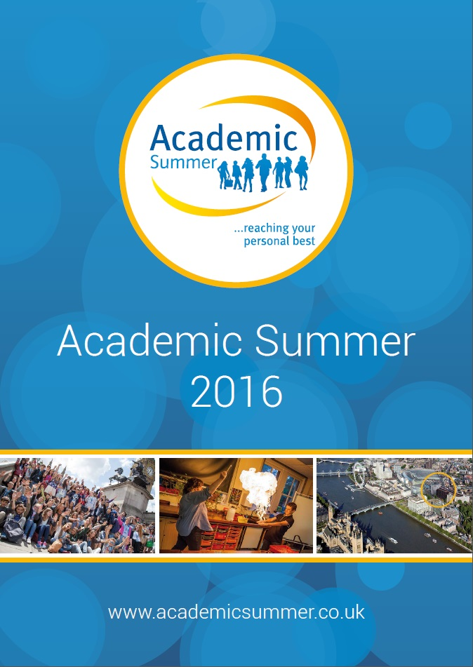 Academic Summer Brochure 2016 for students aged 13-18