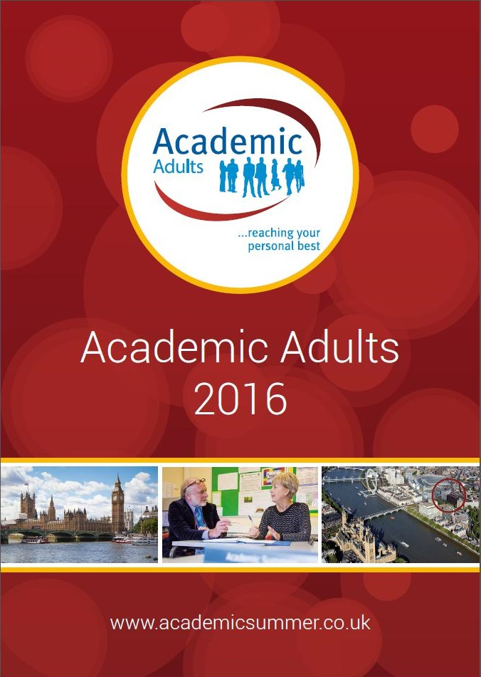 Academic Adults Brochure 2016 for students aged 25+